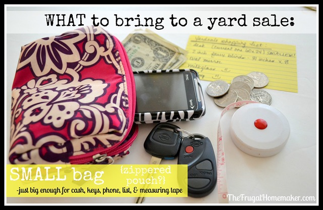 small bag to yard sale