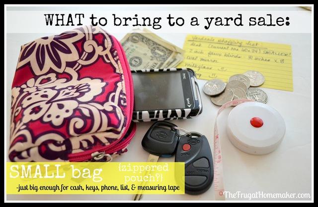 small bag to yard sale
