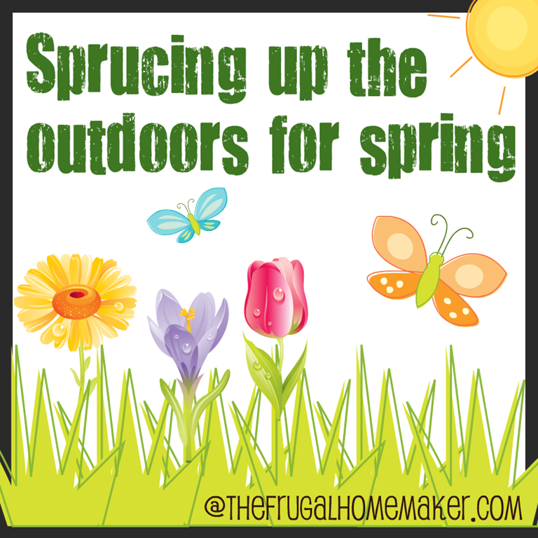 Color-filled flower pots {Sprucing up the Outdoors for Spring series}