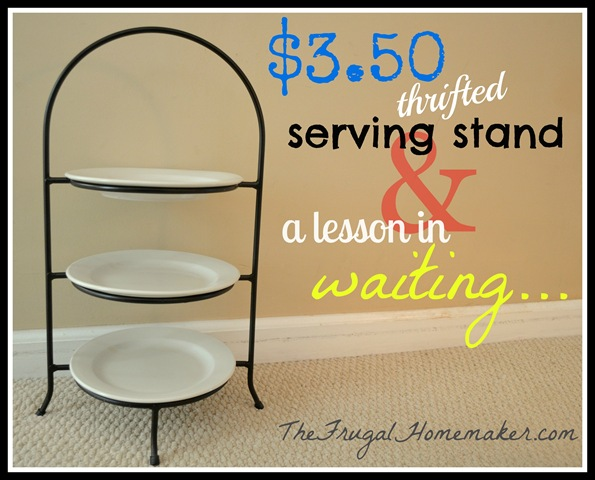 $3.50 serving stand   waiting