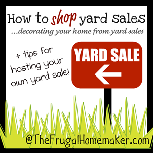 Tips from some yard sale shopping pros {How to shop yard sales series}