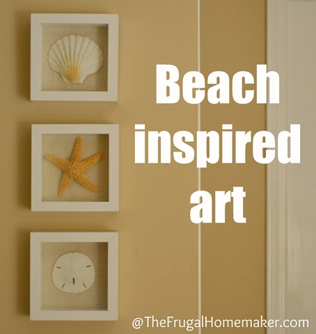 Beach inspired art {Sea Shell art}
