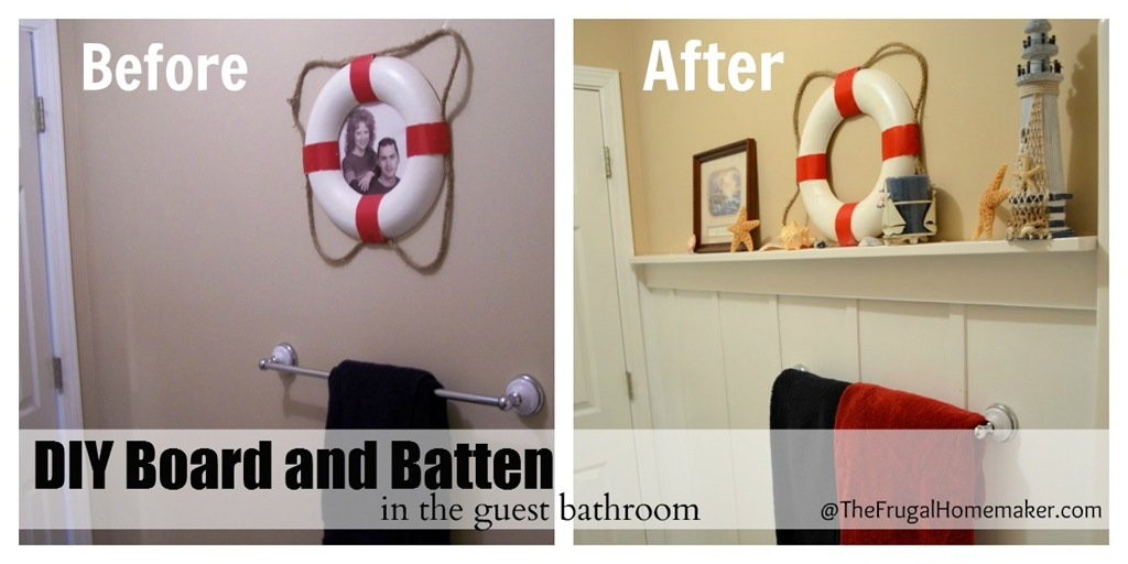 DIY Board and Batten (Beach-inspired bathroom makeover part 2)