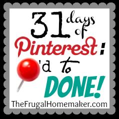 DIY Burlap Menu/Memo Board (Day 11 of 31 days of Pinterest: Pinned to Done