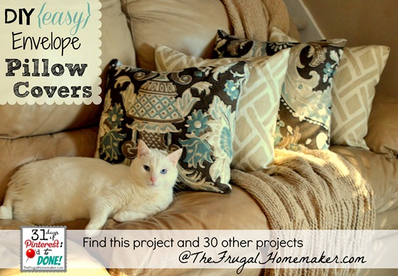 DIY Easy Envelope Pillow Covers