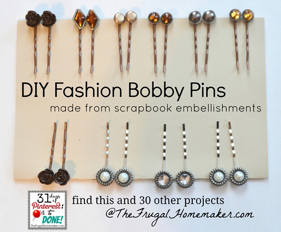 DIY Fashion Bobby Pins
