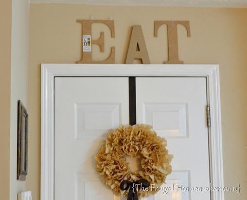 DIY Eat letters