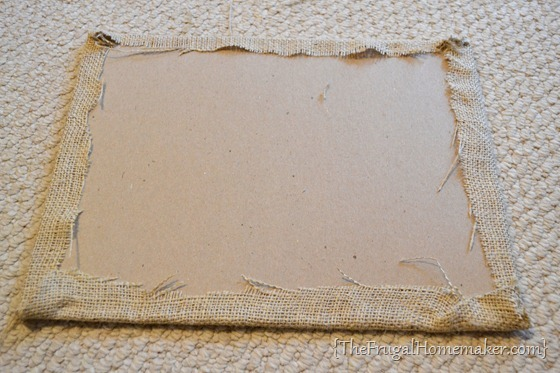 DIY Burlap Menu board