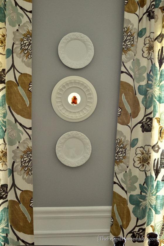 DIY ceiling medallion mirror