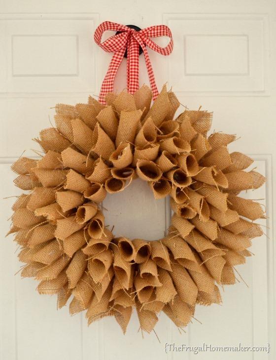 Burlap Book Page Wreath