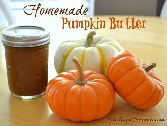 Homemade Pumpkin Butter in jar