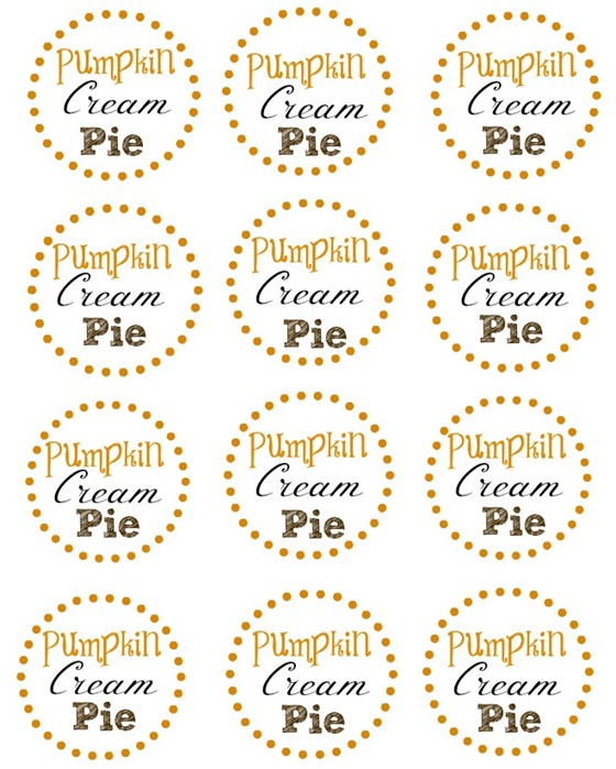 Pumpkin Cream Pie printable