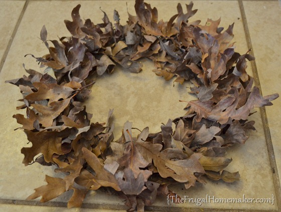 Fall Leaf Wreath (made for free)