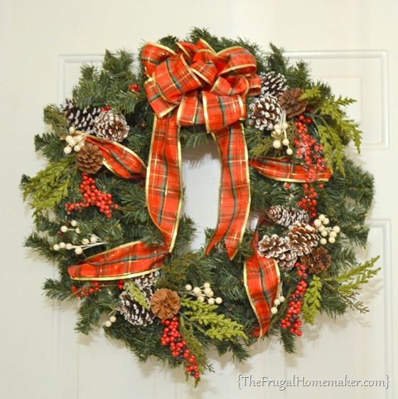 Faux Evergreen Wreath tutorial