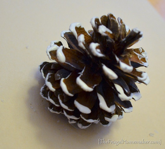 pinecones with painted tips