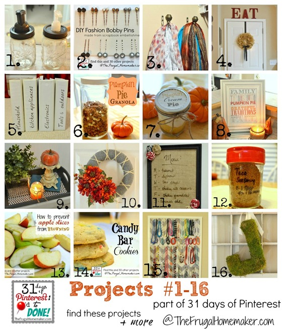 Day 1 to 16 of Pinterest