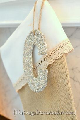 DIY Burlap & Lace Stockings
