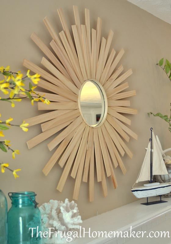 DIY sunburst mirror
