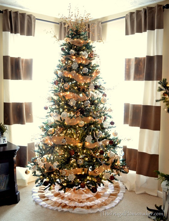 Neutral Christmas tree