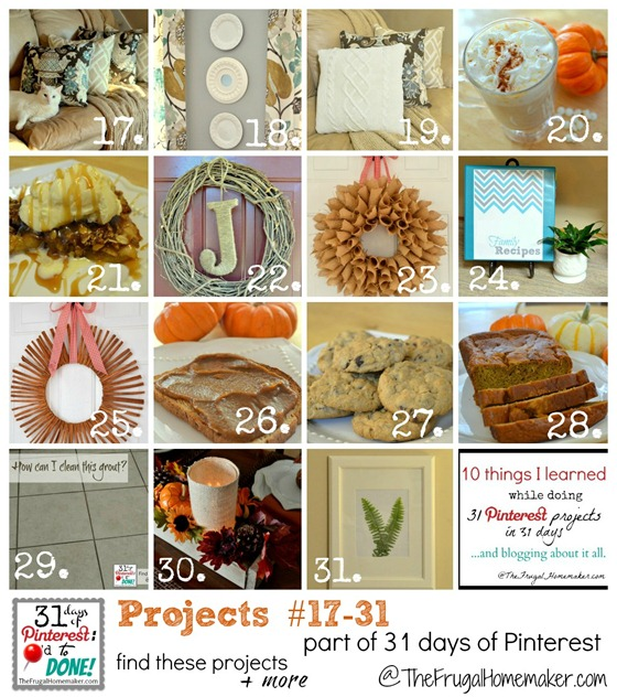 Project 17 to 31 of 31 Pinterest projects