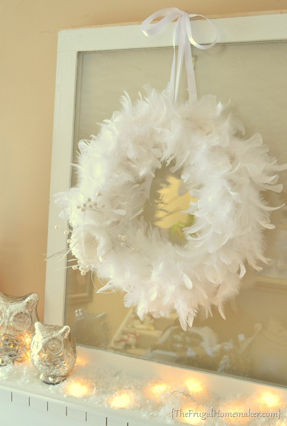 Winter White Feather Wreath