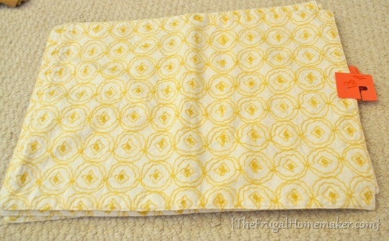 set of 4 yellow placemats