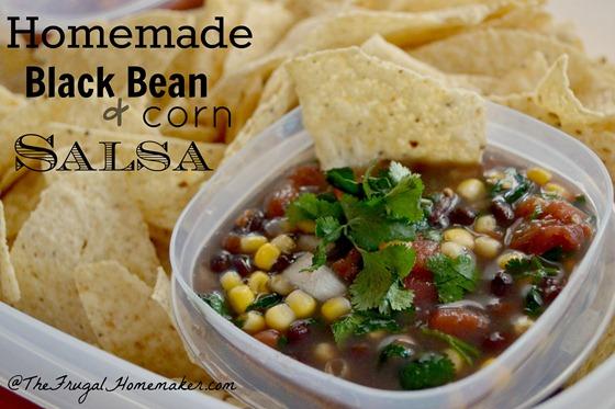 Homemade Black Bean and Corn Salsa