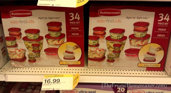 Rubbermaid containers at Target