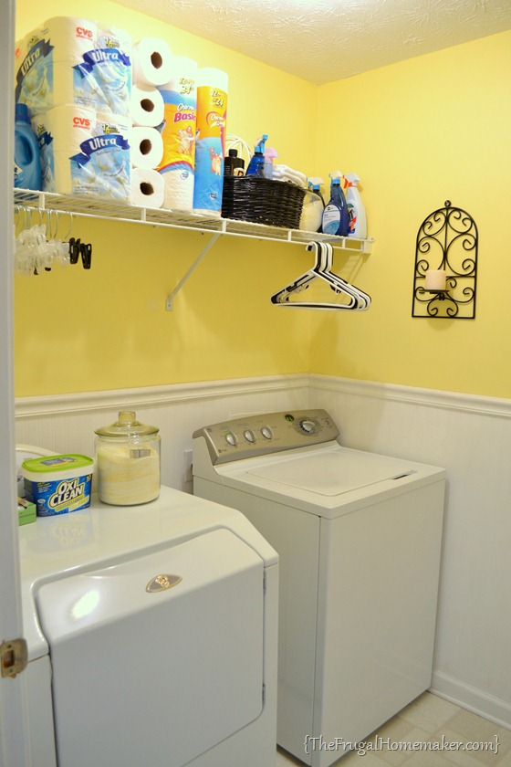 house tour: laundry room Installing Cabinets in Laundry Room