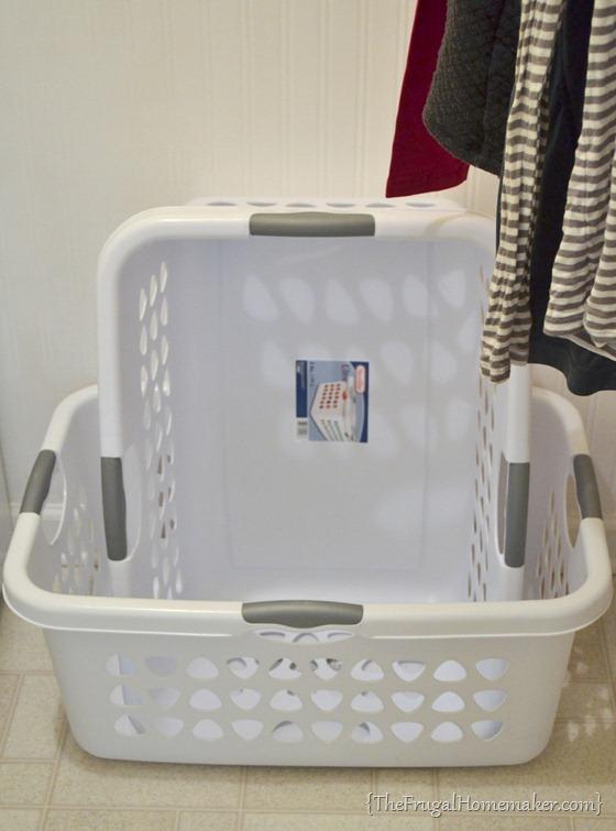 secret to an empty laundry basket