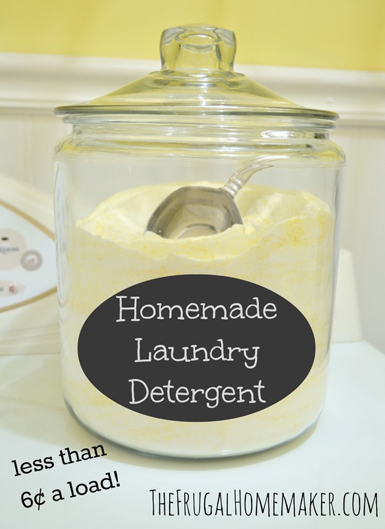 Homemade laundry detergent jar