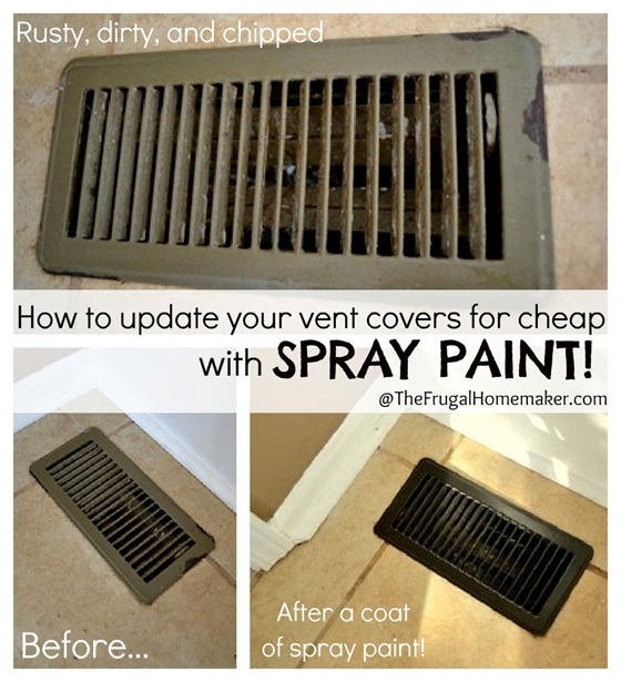 How to update your vents for cheap with spray paint