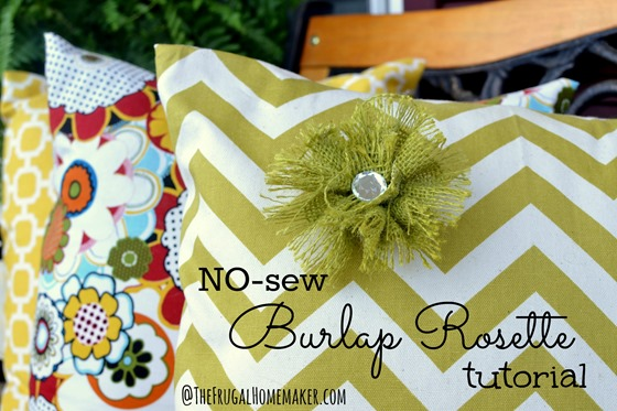 NO-sew Burlap Rosette Tutorial (DIY Fabric Flower tutorial)