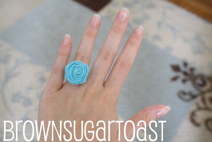 Rolled Fabric Flower Ring Tutorial (Guest post)