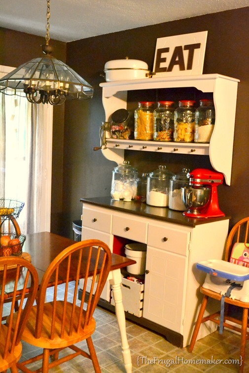 baking corner in kitchen