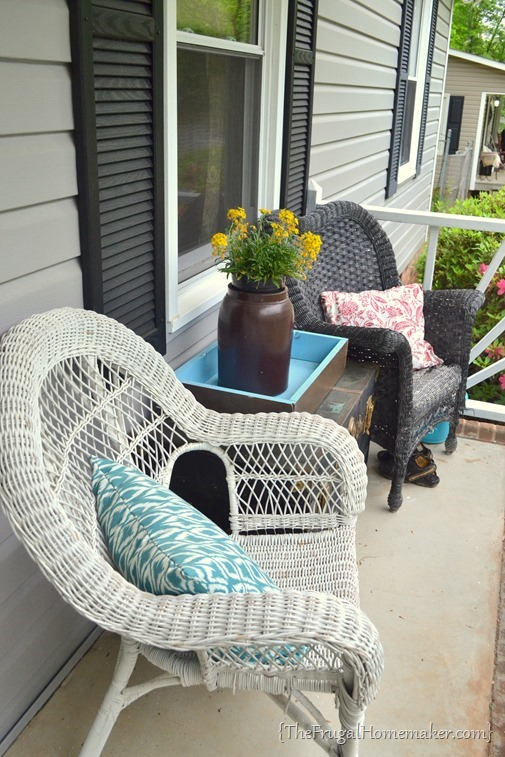 sitting area on front porch