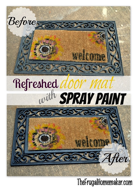 door mat before after
