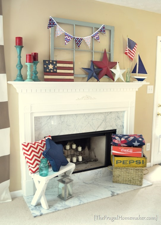Patriotic Mantel