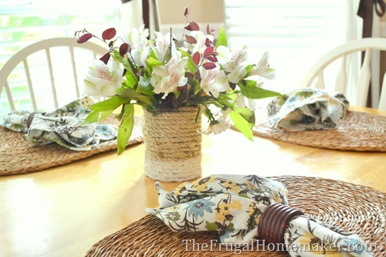 How to set a table with yard sale finds
