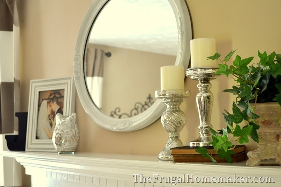 Traditional decorated mantel - 1 mantel decorated 5 ways in 5 days