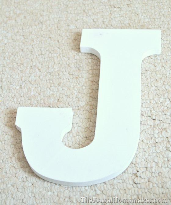 wood letter J