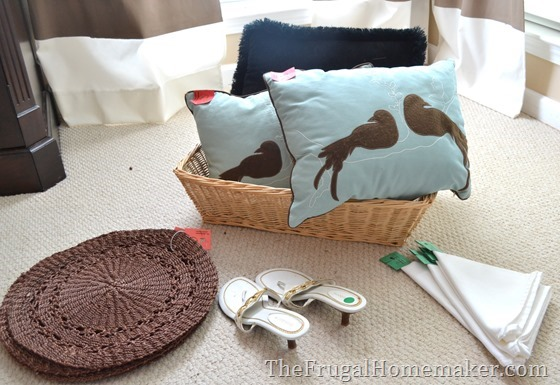 Friday Frugal Finds:Value Village home décor, new pillows, table linens, milk glass, and more!