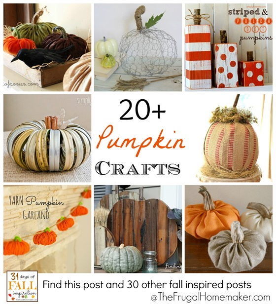 31 Days of Fall Inspiration: Pumpkin crafts