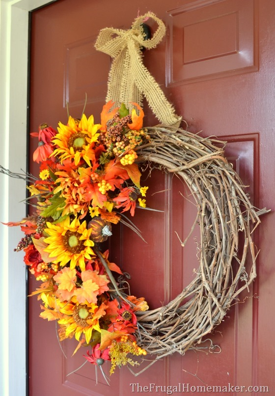 Quick and Easy Fall Wreath