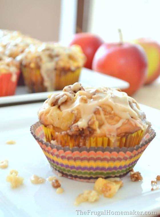 31 Days of Fall Inspiration - Caramel Apple Buttermilk Muffins