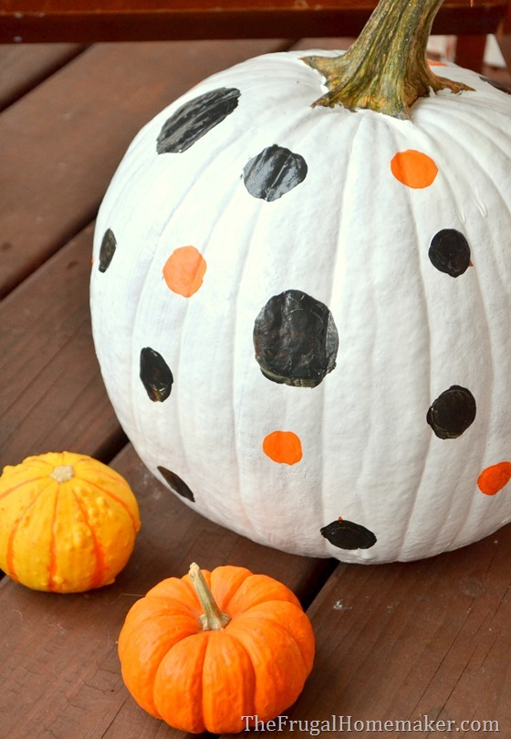 Painted Pumpkins with Behr paint