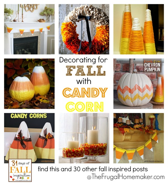 Decorating for Fall with Candy Corn