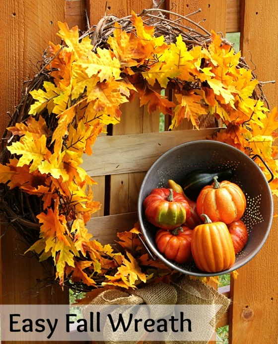 Easy Fall Wreath 2