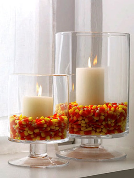 candy corn vases