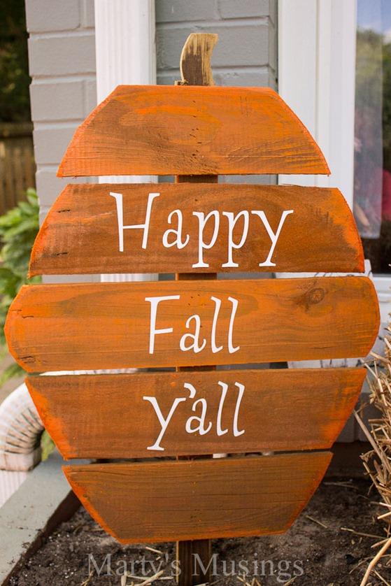 fence board pumpkin